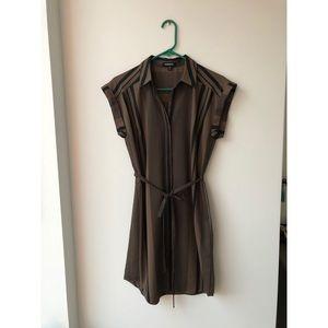 NWOT EXPRESS Striped Button Down Shirt Dress - S